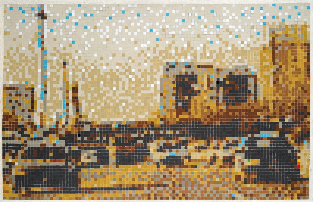 Invader Masterpieces Galerie Lefeuvre du 16 mars au 15 avril 2017 Space Invader La_Route_