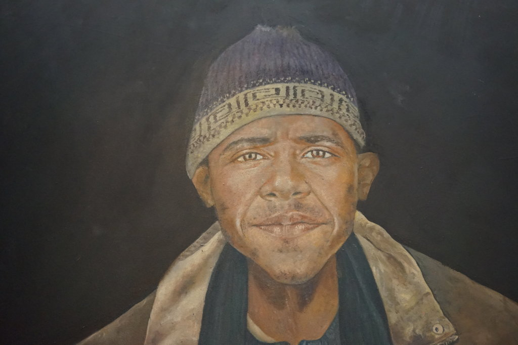 Obama, Abdalla Omari - 100 Chefs d'oeuvre de l'Art moderne et contemporain arabe, la Collection Barjeel a l'IMA