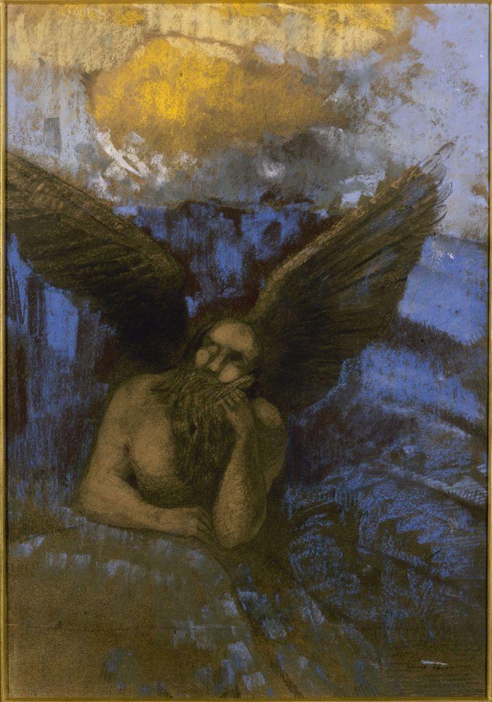 Odilon Redon, Vieil ange, 1892-1895 - L'art du pastel de Degas à Redon au Petit Palais