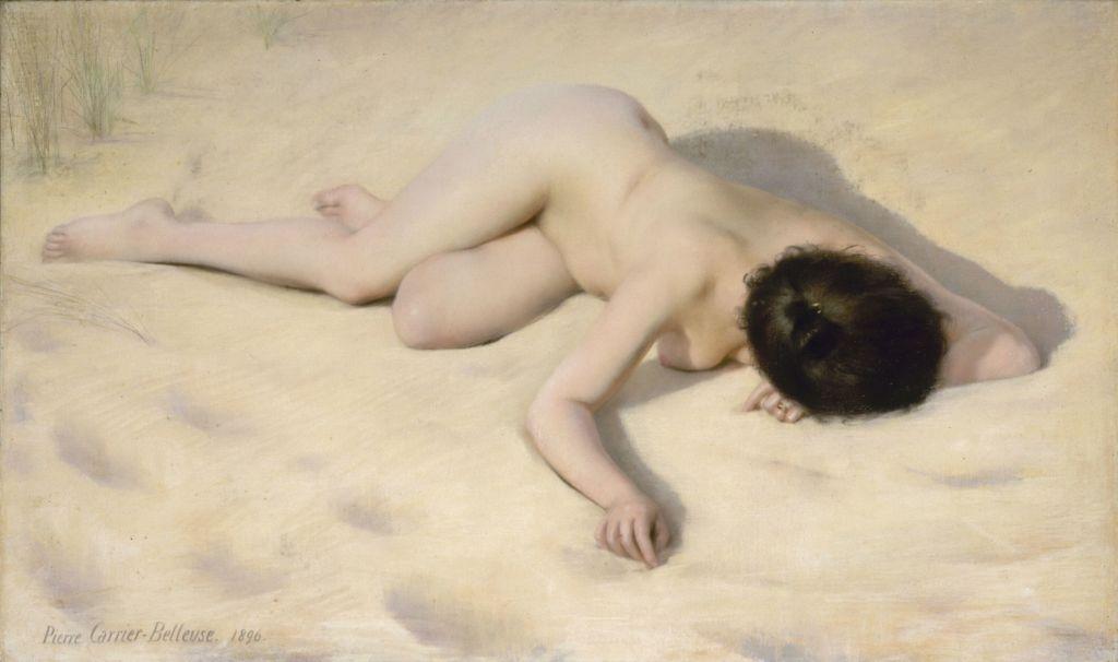 Pierre Carrier-Belleuse, Sur le sable de la dune, 1896 - L'art du pastel de Degas à Redon au Petit Palais