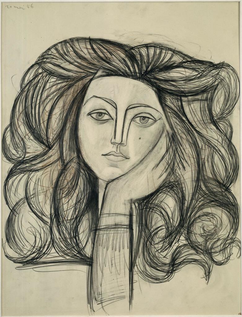 Portrait de Françoise Gilot, Pablo Picasso, 1979 - Exposition Picasso a Perpignan au Musee d'Art Hyacinthe Rigaud