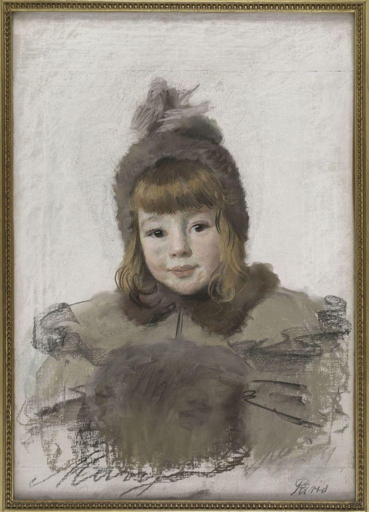 Princesse Marie Eristoff-Kasak, Portrait de fillette, 1898 - L'art du pastel de Degas à Redon au Petit Palais