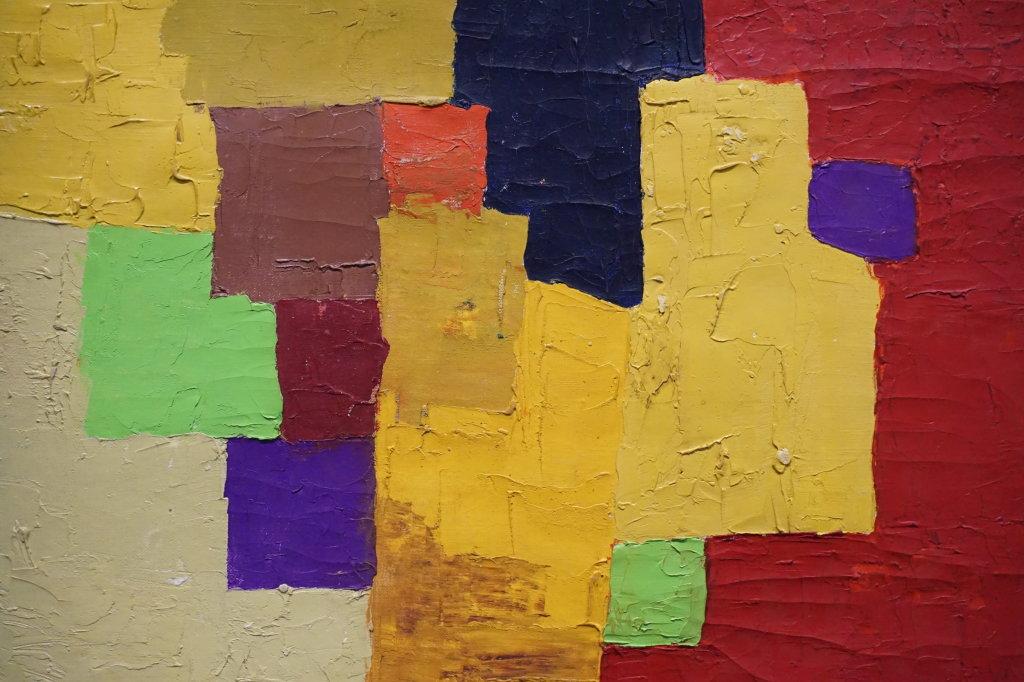 Sans Titre, Etel Adnan, 1963-64 - 100 Chefs d'oeuvre de l'Art moderne et contemporain arabe, la Collection Barjeel a l'IMA