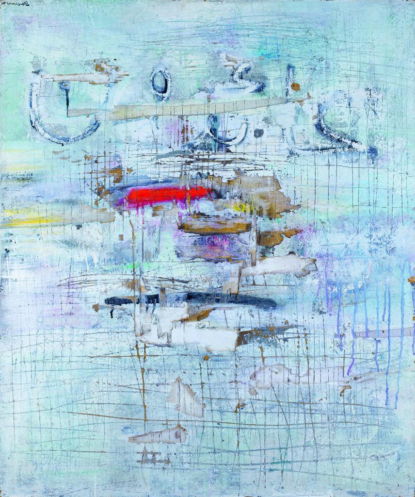 Jala Aidun (Evacuation, We will return), Shakir Hassan Al Said,1983 - 100 Chefs d'oeuvre de l'Art moderne et contemporain arabe, la Collection Barjeel a l'IMA