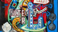 Speedy Graphito, Plus ou Moins, 1989 150 x 150 Musee du Touquet Paris-Plage - Jusqu'au 21 mai 2017