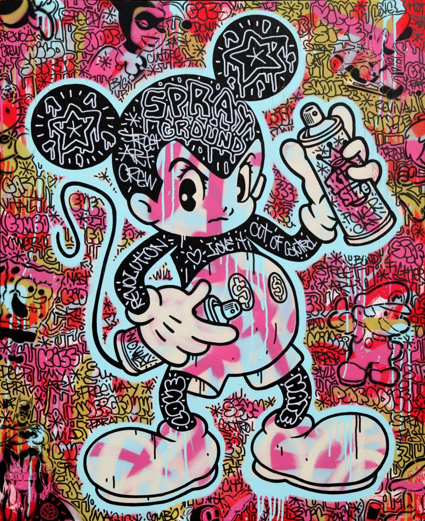 Speedy Graphito, Sprayground, 2011, 100X80 - Musee du Touquet Paris-Plage - Jusqu'au 21 mai 2017