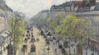 Boulevard de Montmartre matinée de printemps, Camille Pissarro