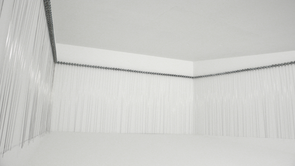 216 prepared dc-motors, filer wire, 2009-2010, Zimoun, Mécaniques Remontées Centre-Quatre