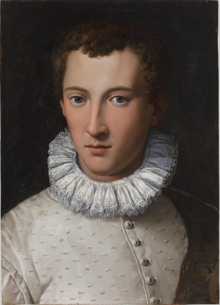 Allori, Alessandro, Portrait de jeune homme, 1565-1570 - Exposition Heures Italienne au Musee Conde de Chantilly