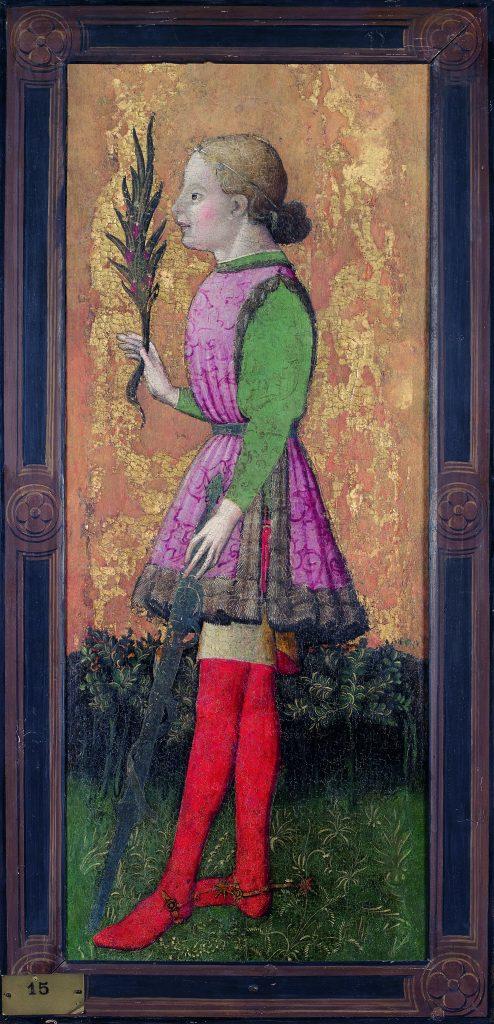Ambrogio Bembo,Saint Julien (Saint Georges) ,1445-1446 - Exposition Heures Italiennes au Musee de picardie d'Amiens