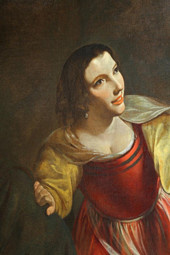 Angelo Caroselli, L'entremetteuse ou la vieille et le jeune galant, detail - Exposition Heures Italiennes au Mudo de Beauvais