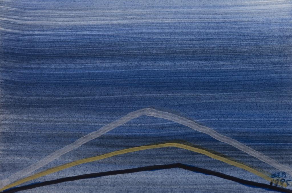 Anna-Eva Bergman, N° 01 -1985, Encre et acrylique sur papier, 10 x 15 cm - Domaine de Kerguehennec - Bignan