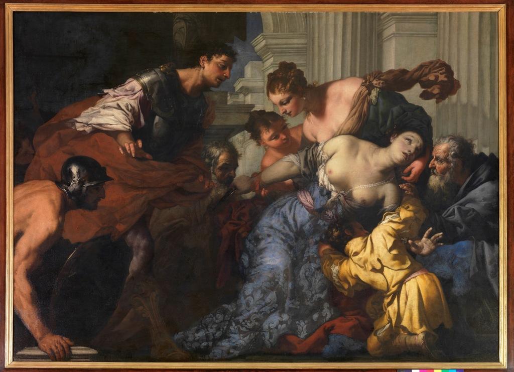 Antonio Zanchi, La Mort de Lucrece - Exposition Heures Italiennes au Mudo de Beauvais