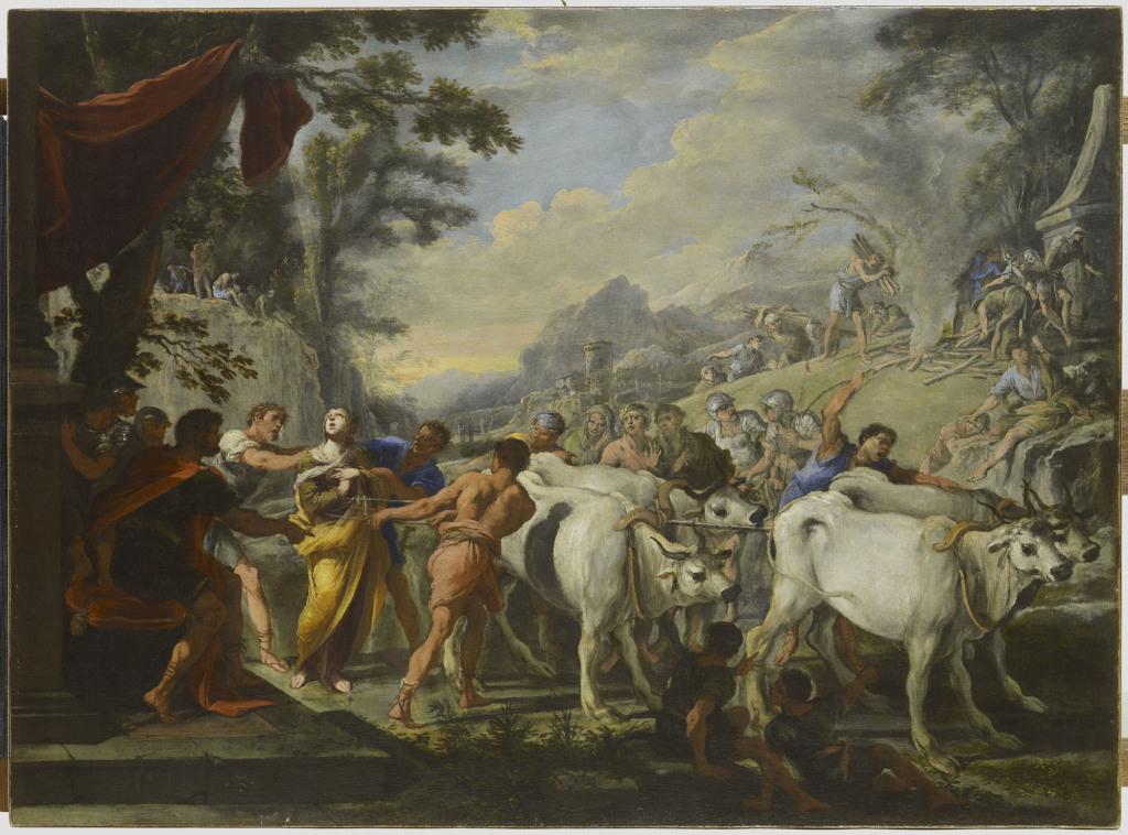 Domenico Gargiulio, Le martyre de Sainte Lucie - Exposition Heures Italiennes au Mudo de Beauvais
