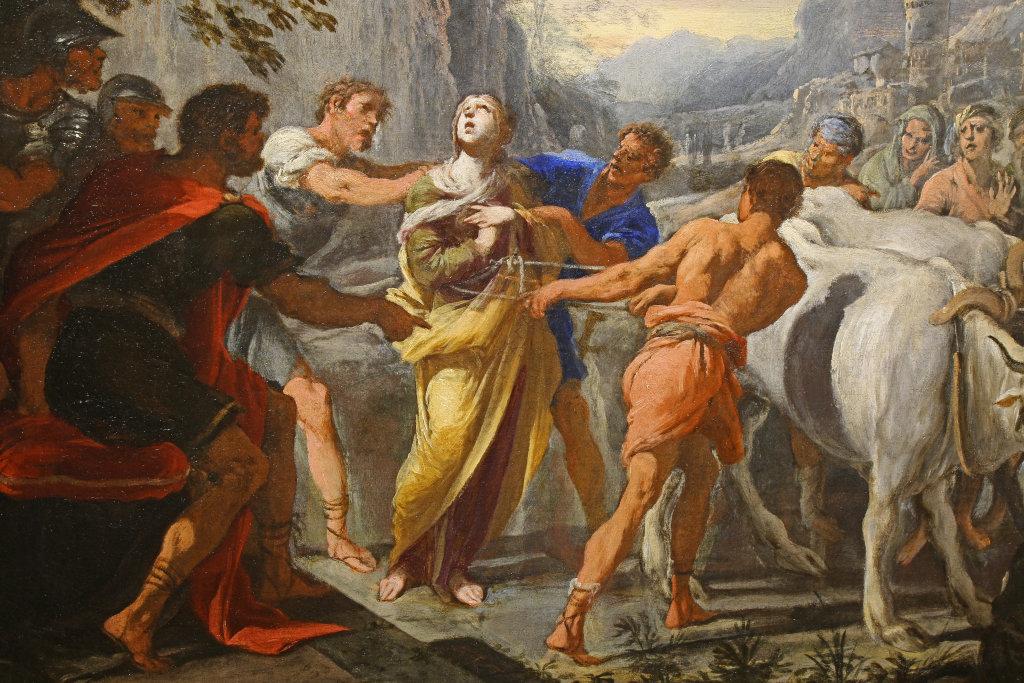 Domenico Gargiulio Le martyre de Sainte Lucie, detail - Exposition Heures Italiennes au Mudo de Beauvais