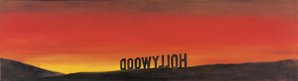 Ed Ruscha, The Back of Hollywood, 1977 - Exposition Los Angeles, une fiction au Musee d'Art contemporain de Lyon