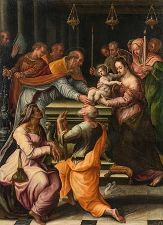 Fontana, Lavinia, La presentation au temple, 1586 - Exposition Heures Italienne au Musee Conde de Chantilly
