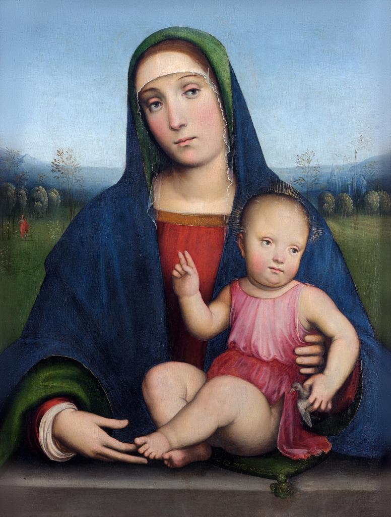 Francia, Francesco, Vierge a l'Enfant, Chaalis 1510-1517 - Exposition Heures Italienne au Musee Conde de Chantilly