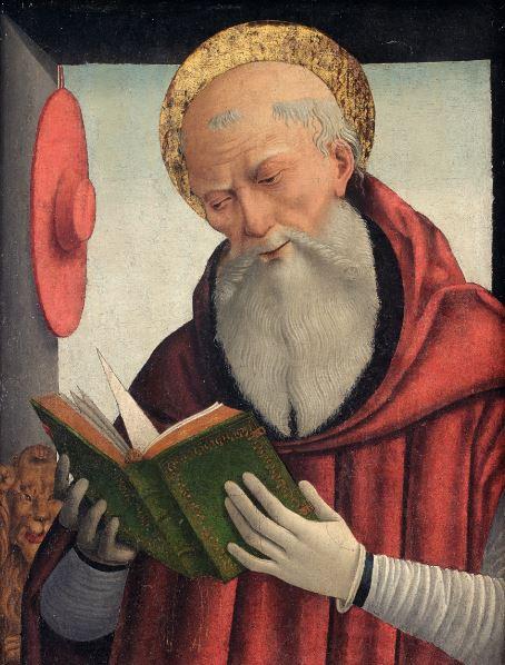 Geminiano di Bongiovanni Benzoni, Saint Jerome lisant,Vers 1490 - Exposition Heures Italiennes au Musee de picardie d'Amiens 2017
