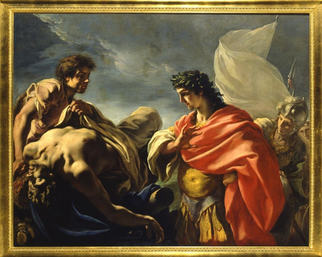 Giovanni Antonio Pellegrini, Alexandre devant le corps de Darius, vers 1700 - Exposition Heures Italiennes au Chateau de Compiegne
