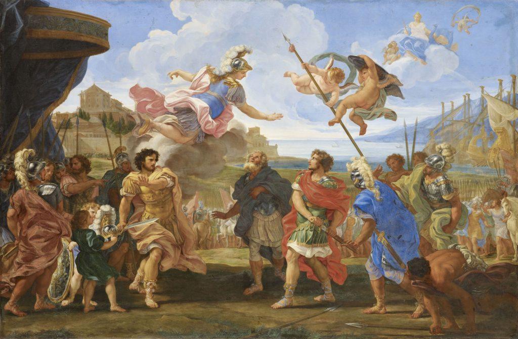 Giovanni Battista Gaulli, dit Il Baciccio La Querelle d'Achille et d'Agamemnon vers 1695 - Exposition Heures Italiennes au Mudo de Beauvais