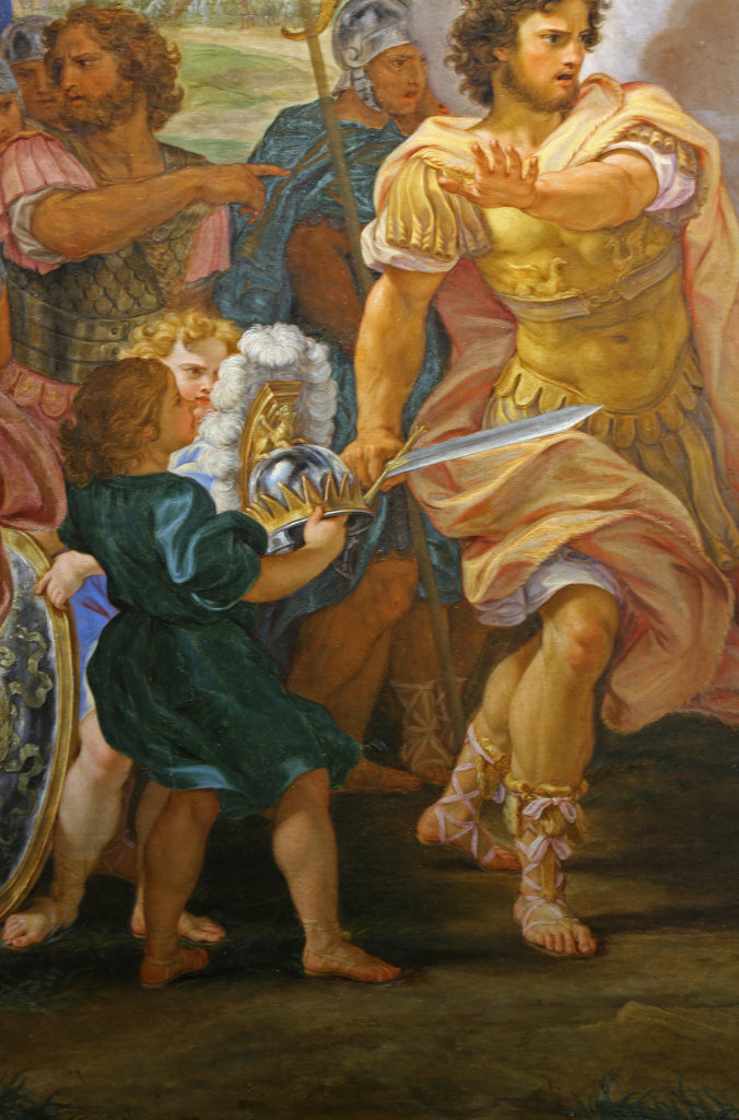 Giovanni Battista Gaulli, dit Il Baciccio La Querelle d'Achille et dAgamemnon vers 1695, detail- Exposition Heures Italiennes au Mudo de Beauvais