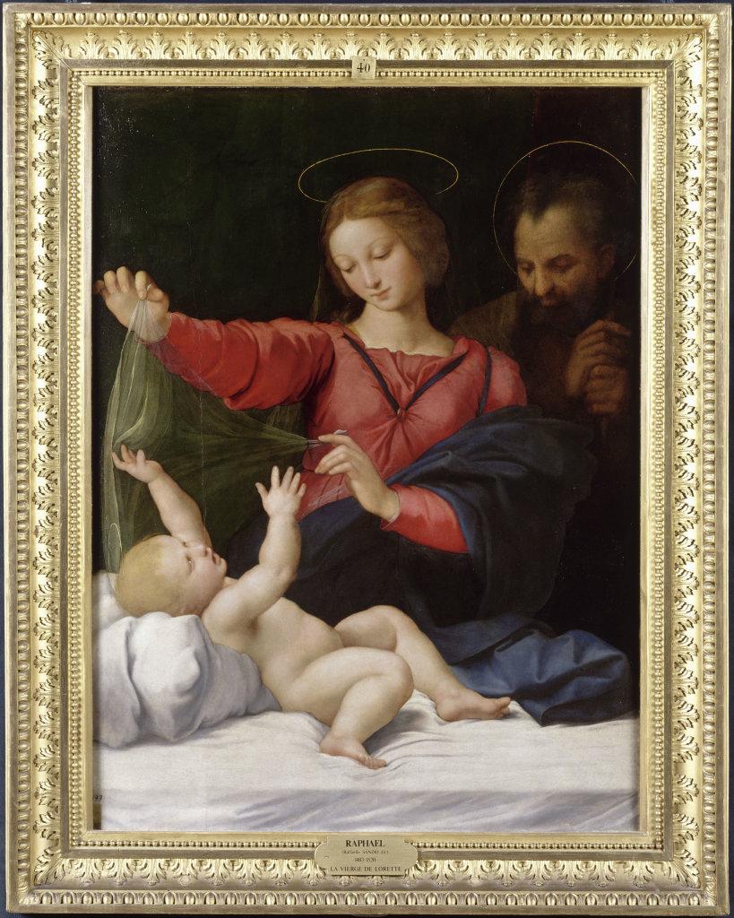 Raffaello Santi ou Sanzio, dit Raphael, La Madone de Lorette, vers 1509-1510 - Exposition Heures Italienne au Musee Conde de Chantilly
