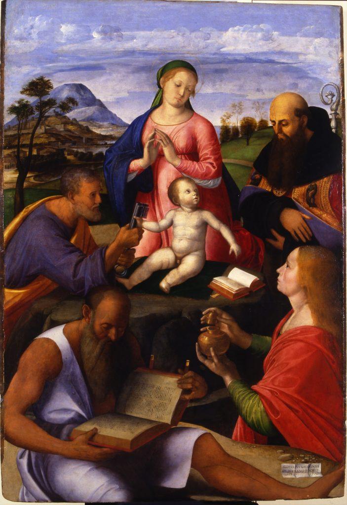 Vivarini, Alvise, La Vierge a l'Enfant et saints, 1500 - Exposition Heures Italienne au Musee Conde de Chantilly