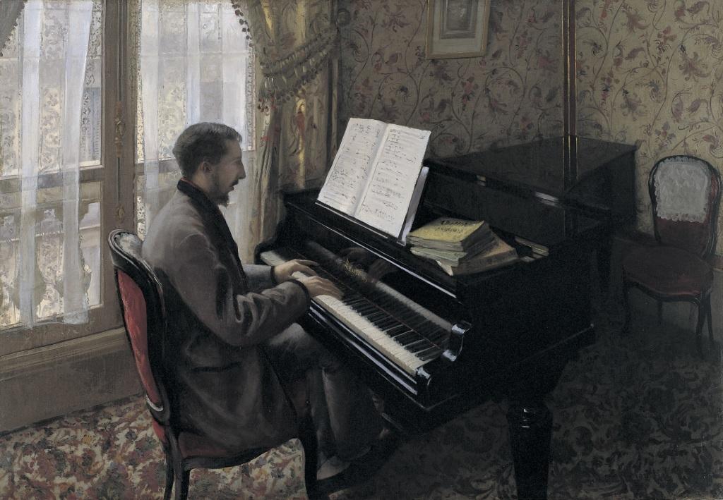 Gustave Caillebotte, Jeune homme au Piano, 1876 - Tokyo-Paris, Chefs d'oeuvre du Bridgestone Museum