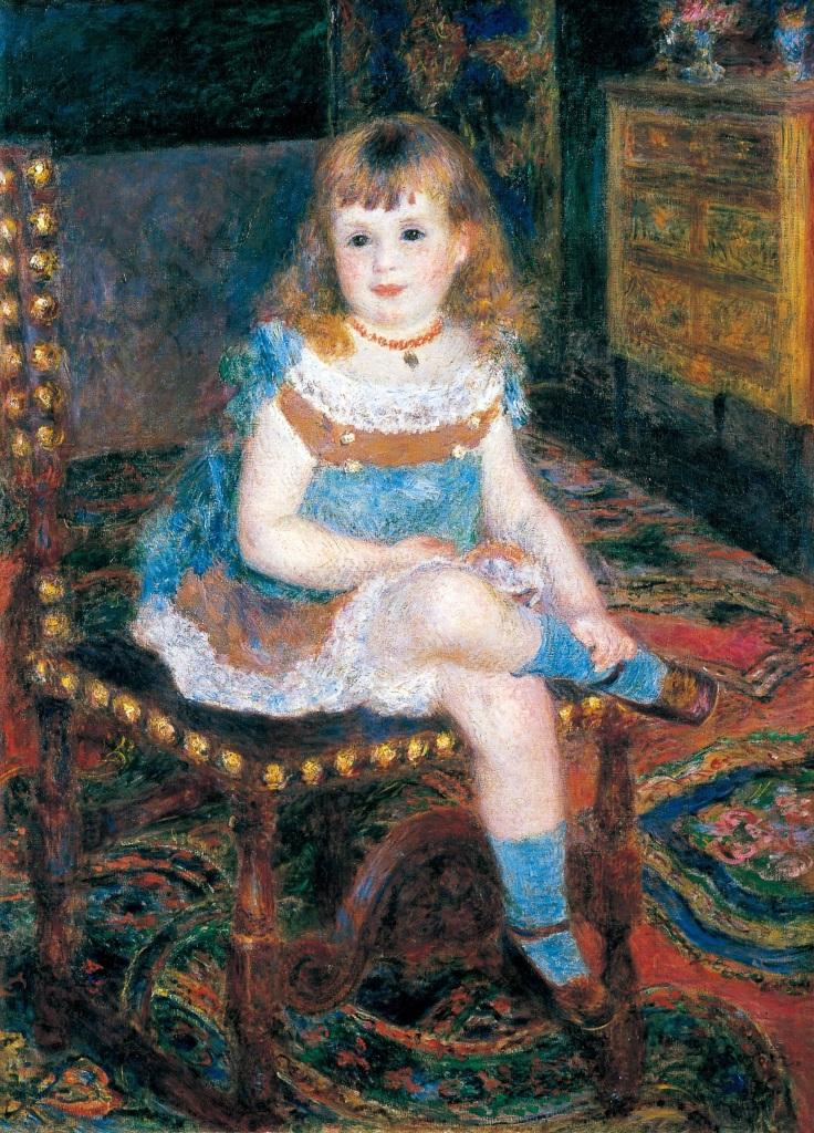 Pierre-Auguste Renoir, Mademoiselle Georgette Charpentier assise, 1876 - Tokyo-Paris, Chefs d'oeuvre du Bridgestone Museum