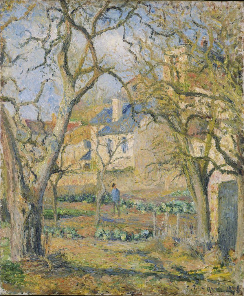 Camille Pissarro, Jardin potager au jardin de Maubuisson, Pontoise, 1878 - Tokyo-Paris, Chefs d'oeuvre du Bridgestone Museum