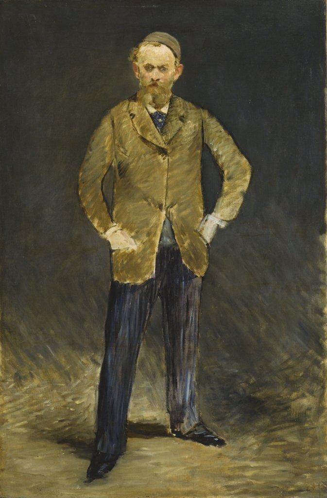 Edouard Manet, Portrait de Manet par lui-meme, dit aussi Manet a la Calotte, 1878-1879 - Tokyo-Paris, Chefs d'oeuvre du Bridgestone Museum
