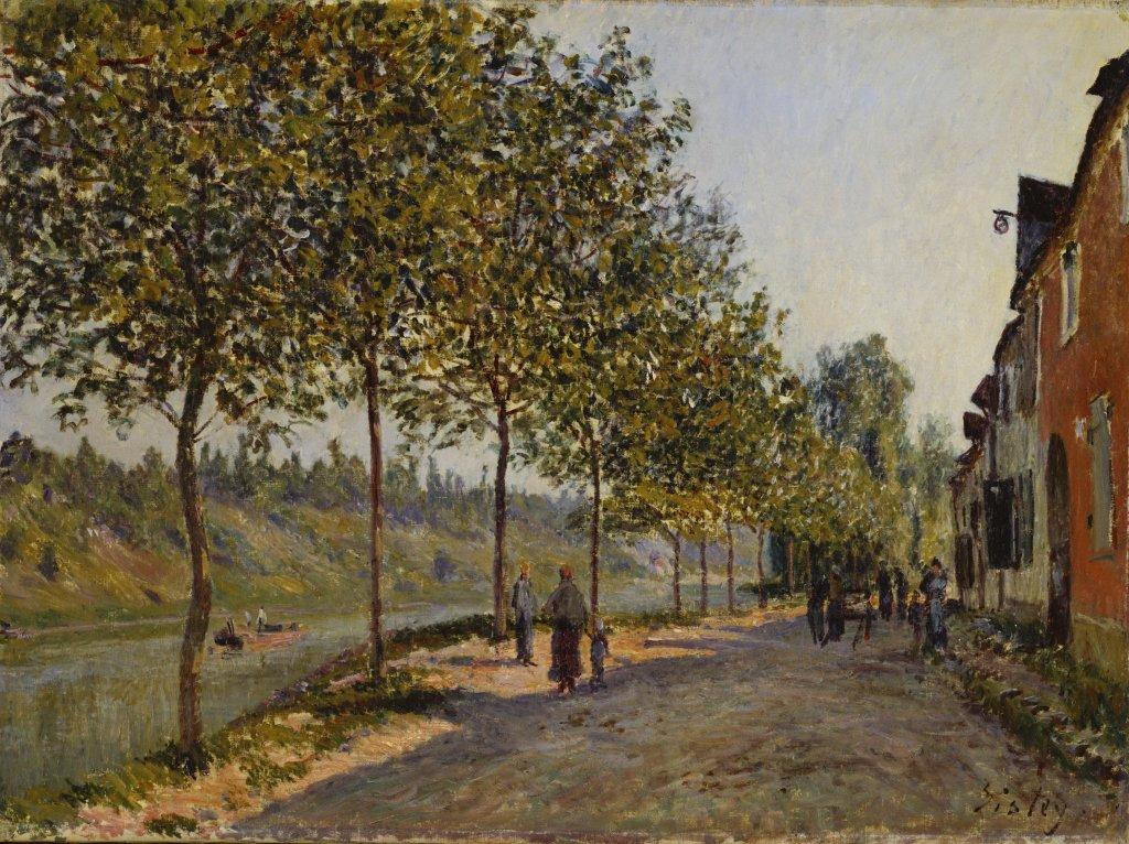 Alfred Sisley, Saint-Mammes et les coteaux de la Celle – matin de juin, 1884 - Tokyo-Paris, Chefs d'oeuvre du Bridgestone Museum