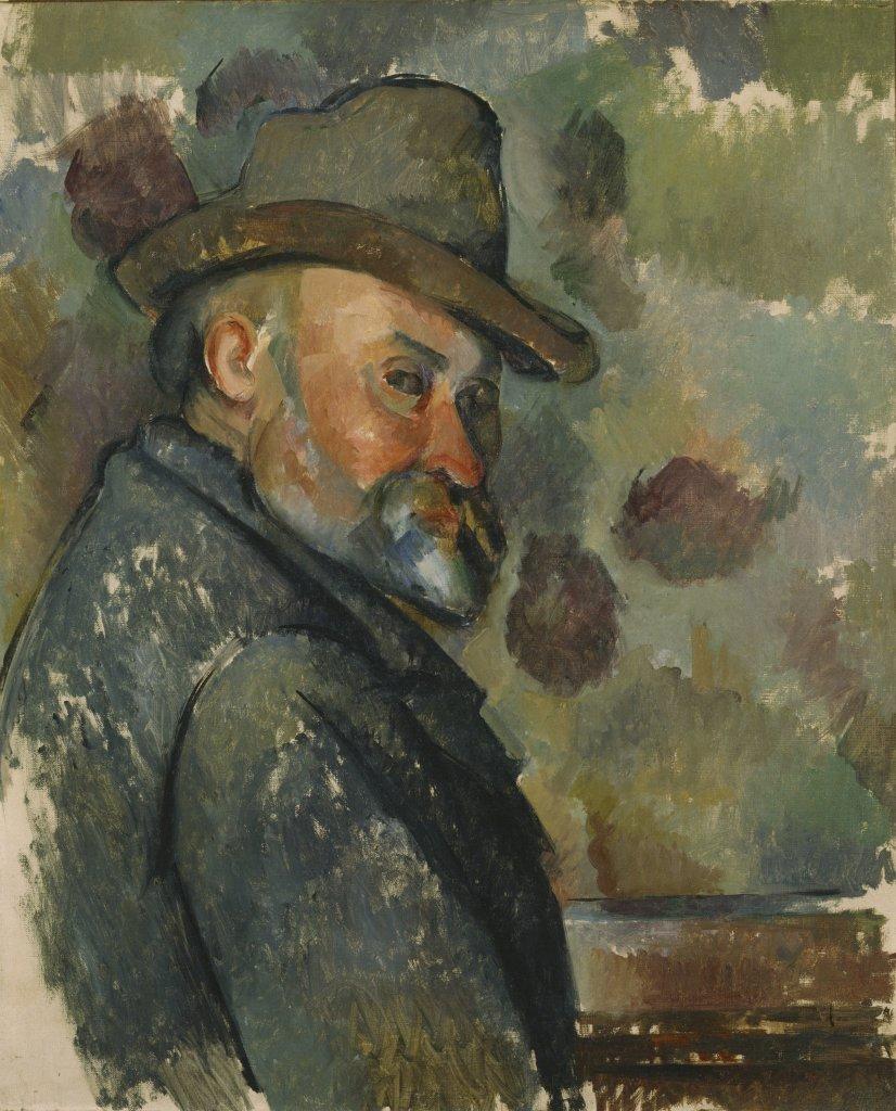 Paul Cezanne, Cezanne coiffe d'un chapeau mou, vers 1890-1894 - Tokyo-Paris, Chefs d'oeuvre du Bridgestone Museum