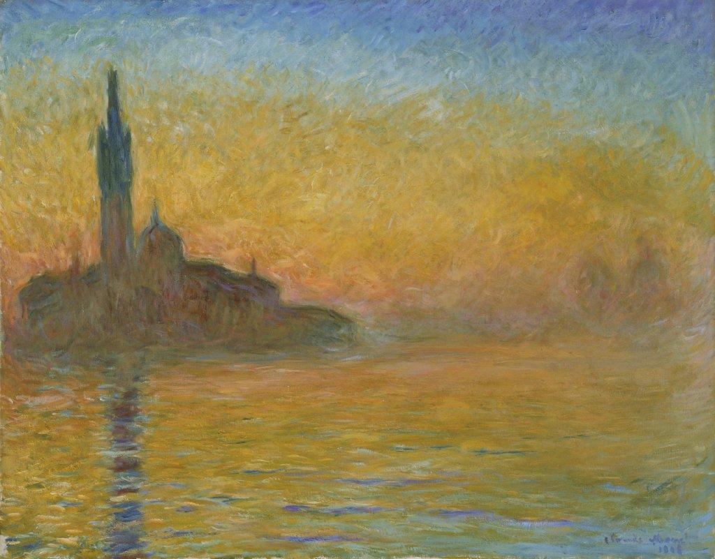 Claude Monet, Crepuscule a Venise, vers 1908 - Tokyo-Paris, Chefs d'oeuvre du Bridgestone Museum