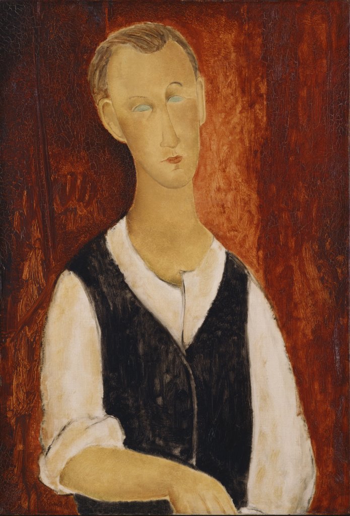 Amedeo Modigliani, Portrait d'homme, dit aussi Le Jeune Paysan, vers 1918 - Tokyo-Paris, Chefs d'oeuvre du Bridgestone Museum