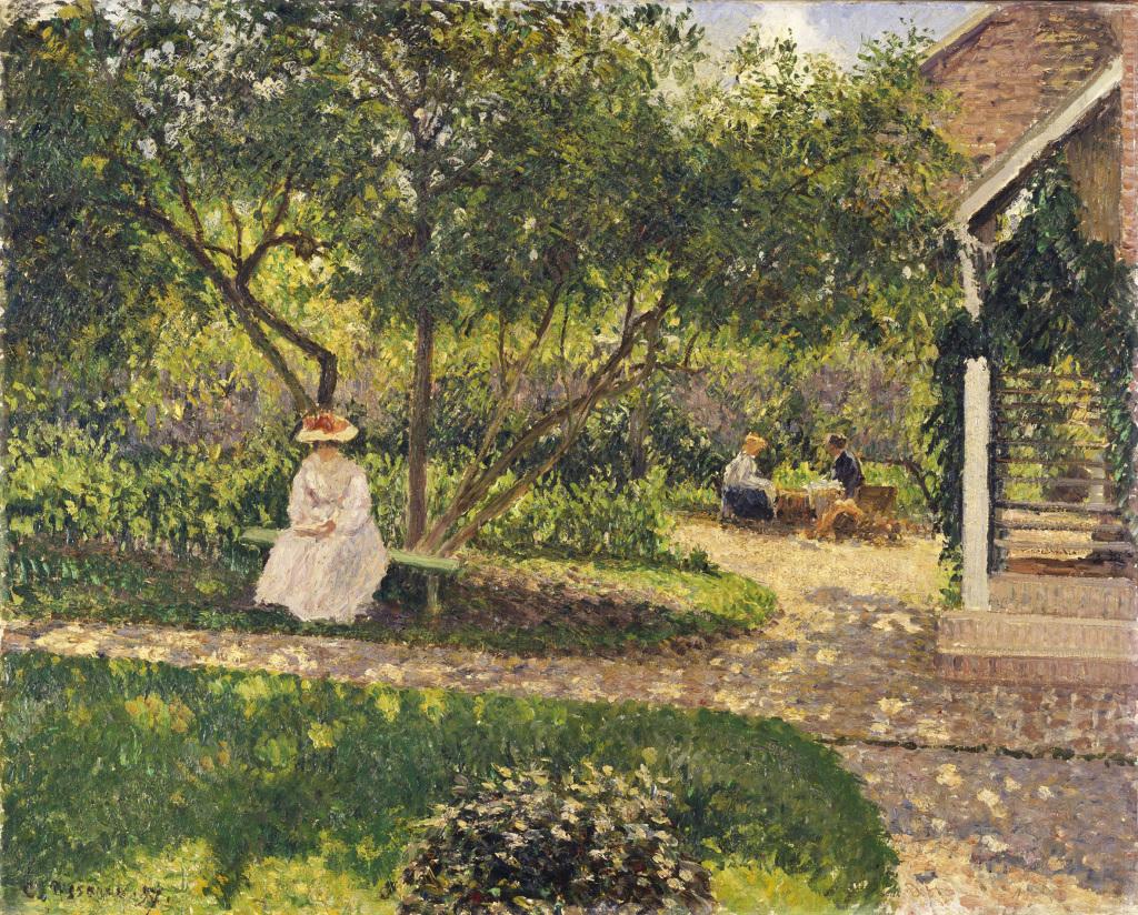 Pissarro a Eragny, L'Escalier, coin de jardin à Eragny, 1897, Musée du Luxembourg