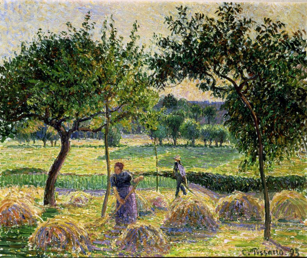 Camille Pissarro a Eragny au Musée du Luxembourg a Paris Fenaison à Eragny 1893