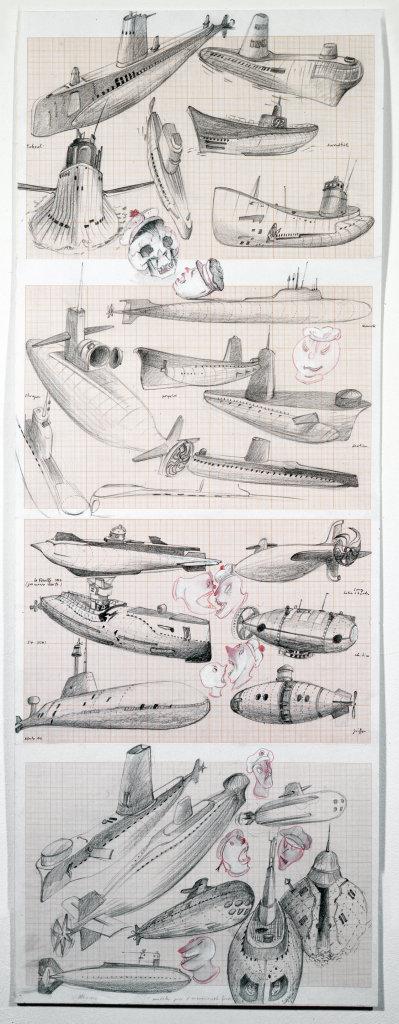 submarine dessin - Daniel Nadaud - Muet Tintamarre - Musee de l'Hospice saint-Roche d'Issoudun