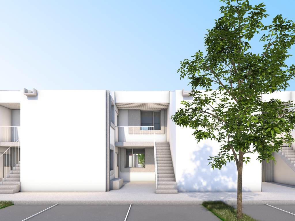 ATELIER EGR, 12 logements sociaux à Jouques (13)© Atelier EGR - AJAP à la Cité de l'Architecture et du Patrimoine