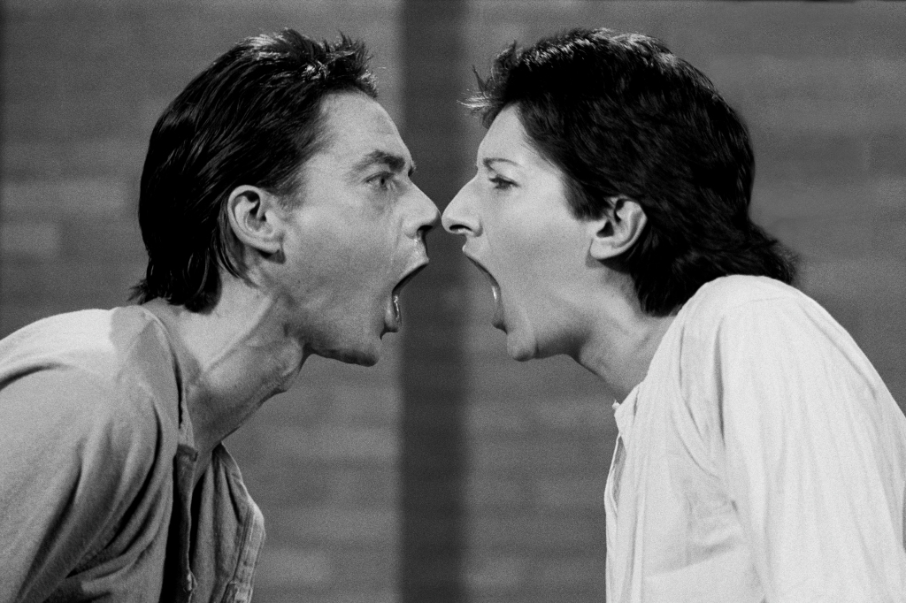 Ulay/Marina Abramovi, AAA-AAA Performed for television 15 minutes RTB television studio, Liege, Belgium February, 1978 - The Cleaner, Moderna Museet Stockholm