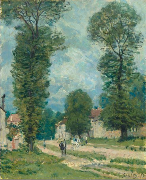 Alfred Sisley - La Route de Versailles - 21 rue de la Boetie au Musee Maillol
