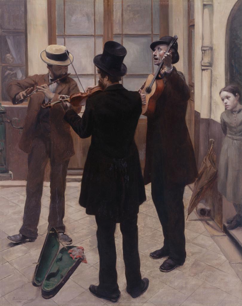 Les musiciens - Albert Bartholomé - Tintamarre! Instruments de musique dans l'art 1860-1910 - Musee des impressionnistes Giverny
