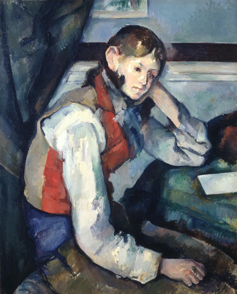 Paul Cezanne Le garcon au gilet rouge, 1888-1890 - Chefs d'oeuvre de la collection Buhrle - Fondation de l'Hermitage, Lausanne