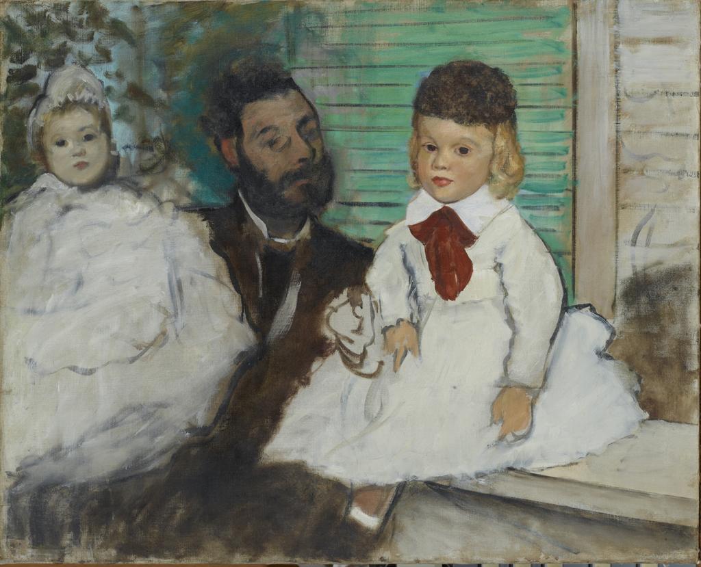Edgar Degas Ludovic Lepic et ses filles, vers 1871 - Chefs d'oeuvre de la collection Buhrle - Fondation de l'Hermitage, Lausanne