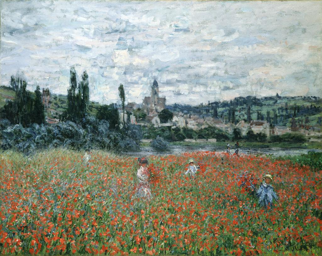Claude Monet Champ de coquelicots pres de Vetheuil, vers 1879 - Chefs d'oeuvre de la collection Buhrle - Fondation de l'Hermitage, Lausanne