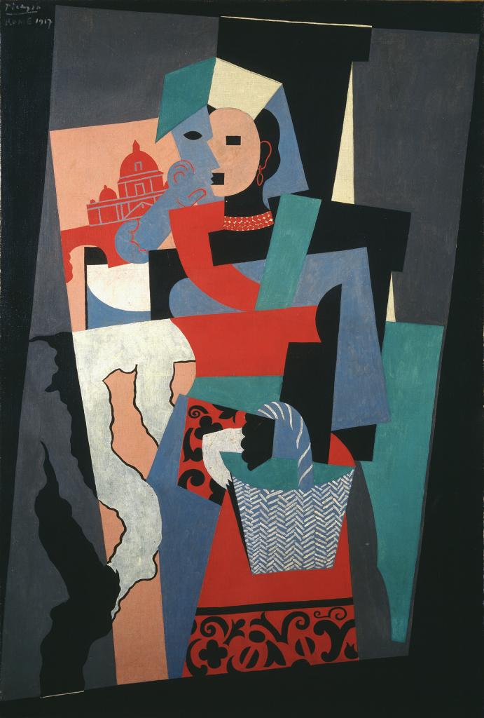 Pablo Picasso L'italienne, 1917 - Chefs d'oeuvre de la collection Buhrle - Fondation de l'Hermitage, Lausanne