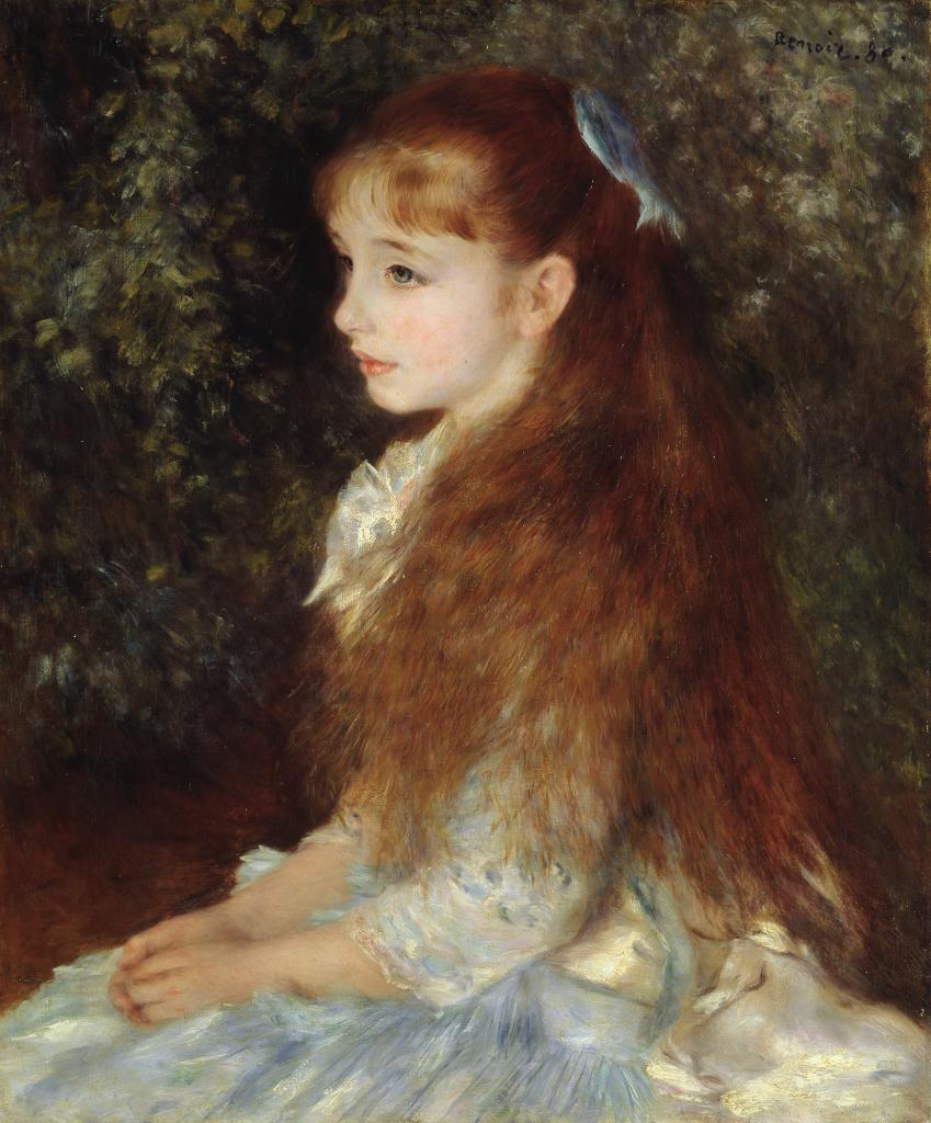 Pierre-Auguste Renoir Portrait de Mademoiselle Irene Cahen d'Anvers (La petite Irene), 1880 - Chefs d'oeuvre de la collection Buhrle - Fondation de l'Hermitage, Lausanne