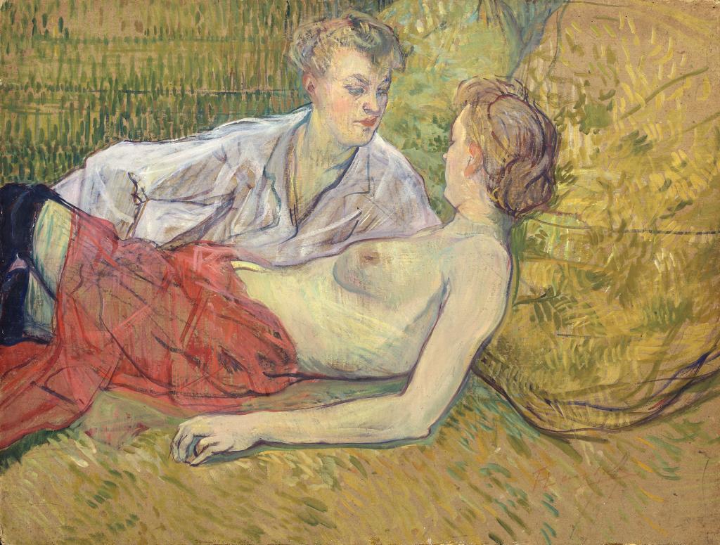 Henri de Toulouse-Lautrec Les deux amies, 1895 - Chefs d'oeuvre de la collection Buhrle - Fondation de l'Hermitage, Lausanne