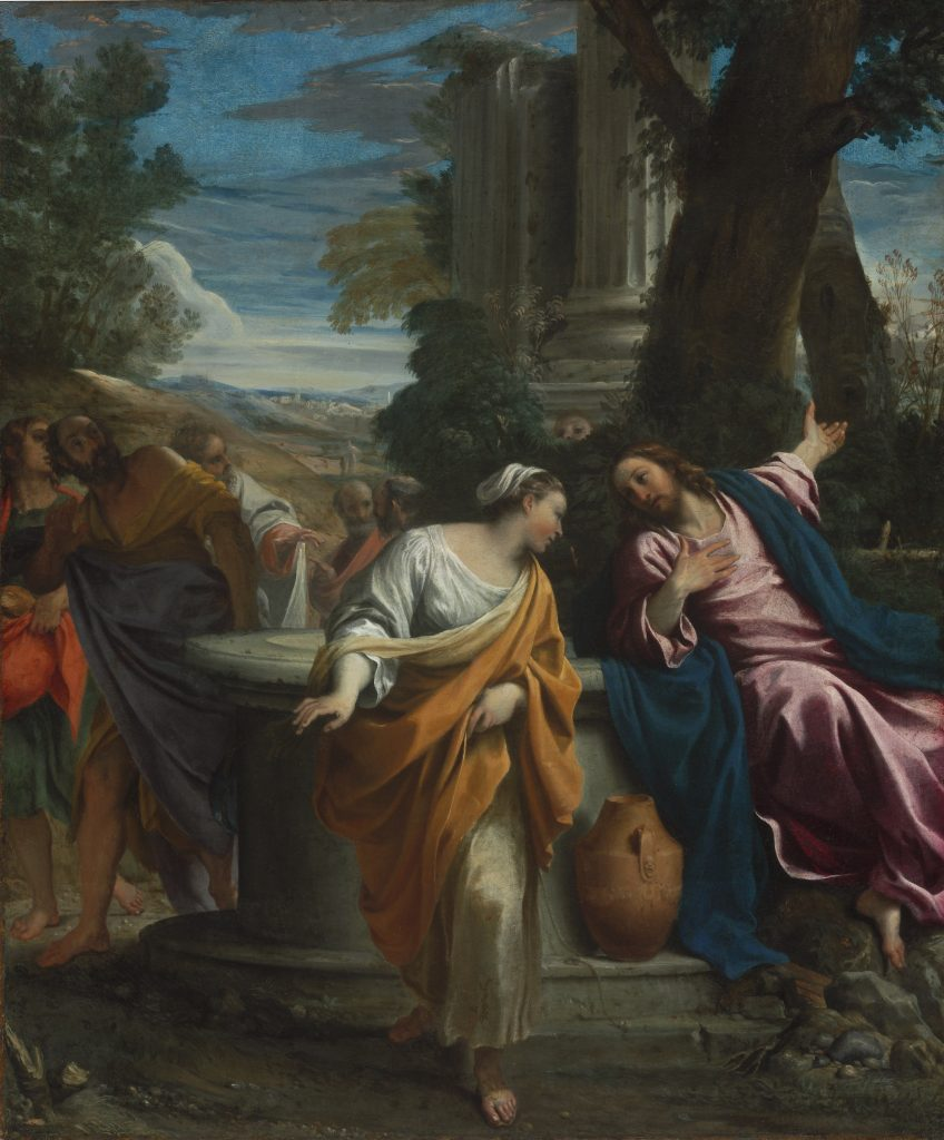 Christ and the Samaritan, Woman, Annibale Carracci - Masterpieces from Budapest. From the Renaissance to the Avant-Garde au Musee Thyssen- Bornemisza – Madrid